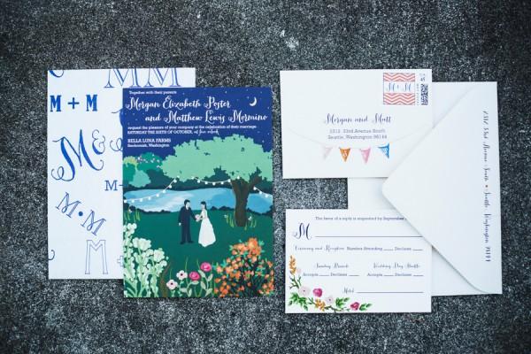 Bold Whimsical Wedding Stationery