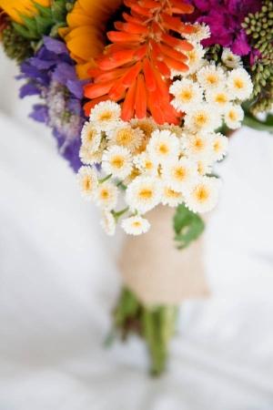Bouquet Tied in Burlap