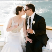 Bride and Groom on Yacht