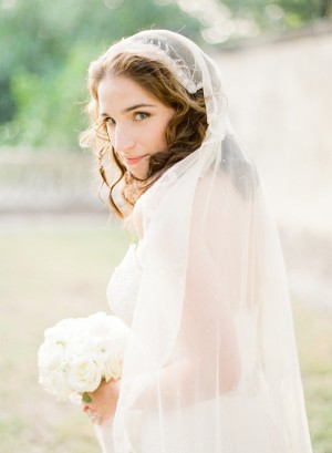 Bride in Vintage Cap Veil
