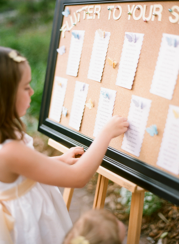 Butterfly Stationery Seating Chart