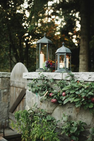 Candle Lanterns on Stone Wall