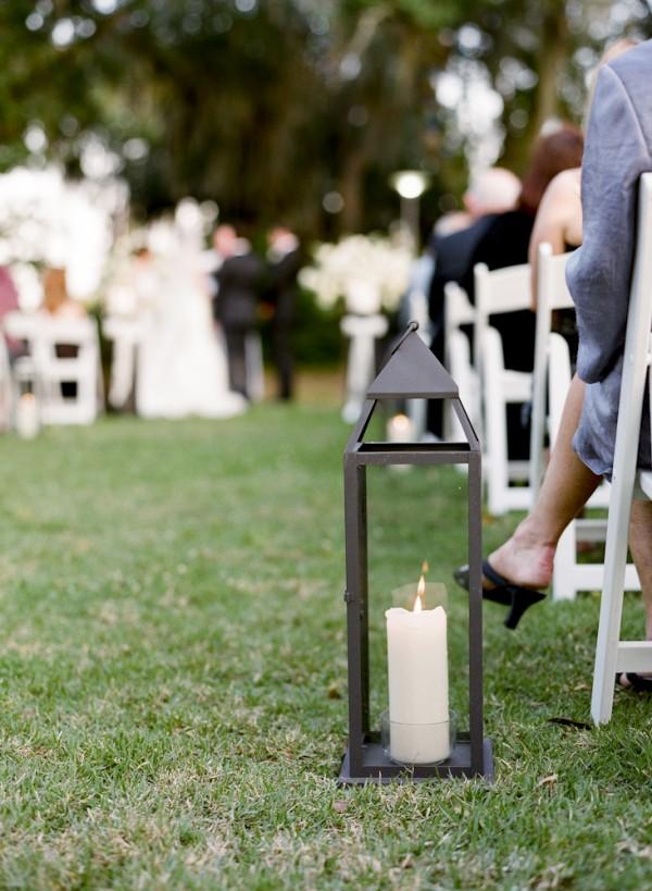 Candle in Lantern Aisle Decor