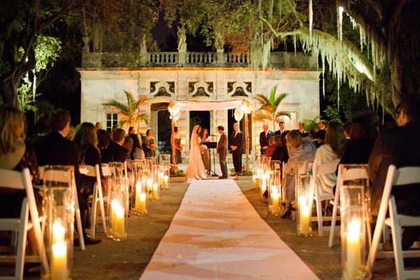 Candlelit Garden Ceremony Venue