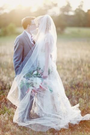Cathedral Length Sheer Bridal Veil