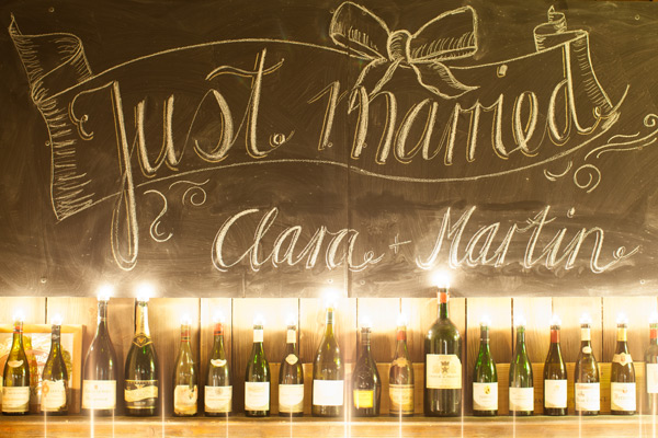 Chalkboard Just Married Sign