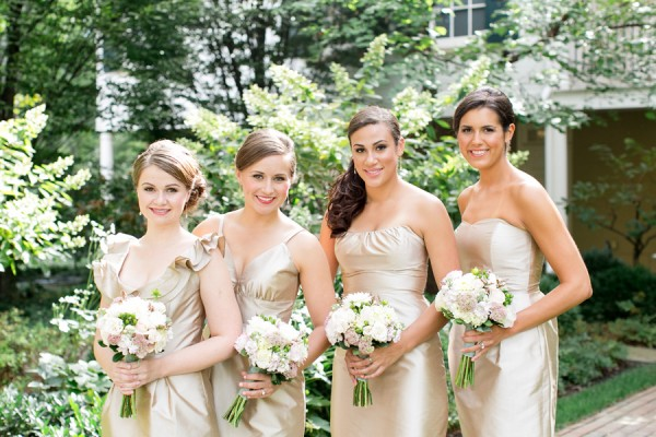 Champagne Colored Bridesmaids Dresses