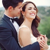 Champagne Colored Drop Style Bridal Earrings
