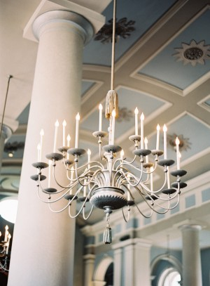 Chandelier Wedding Reception Decor