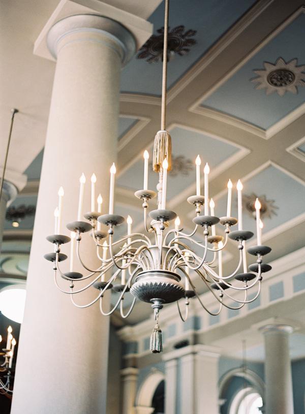Chandelier Wedding Reception Decor