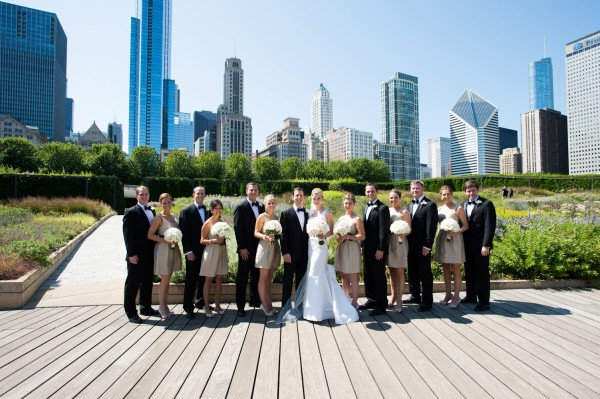 Chicago Wedding Party Photo