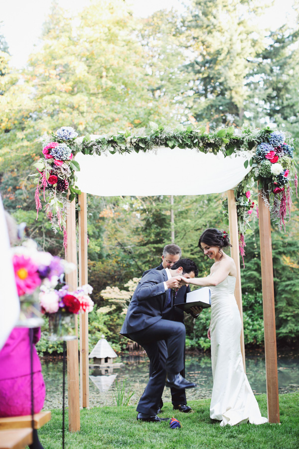 Chuppah With Bold Floral Garland 1