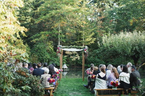 Chuppah With Bold Floral Garland