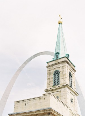 Church Steeple With St