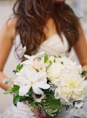Clematis and Peony Bouquet