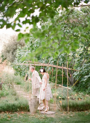 Couple in French Olive Vineyard