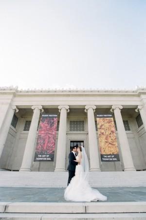 Couple on Art Museum Steps