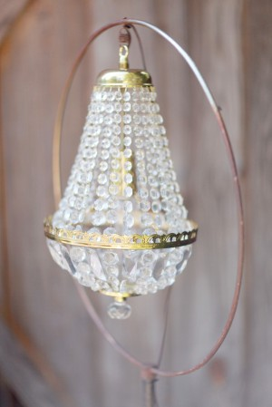 Crystal and Gold Lamp Detail