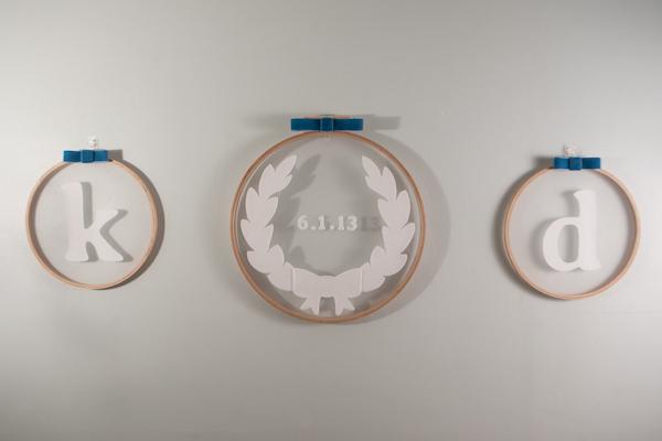 DIY Monogrammed Embroidery Hoops by Rafters of Cedars 1