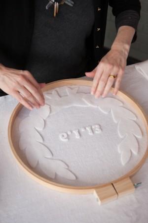 DIY Monogrammed Embroidery Hoops by Rafters of Cedars 11