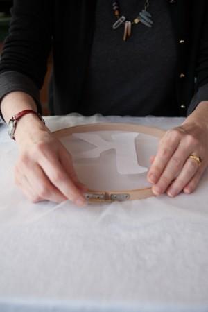DIY Monogrammed Embroidery Hoops by Rafters of Cedars 15