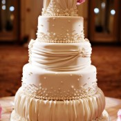 Ruffled Fondant Wedding Cake