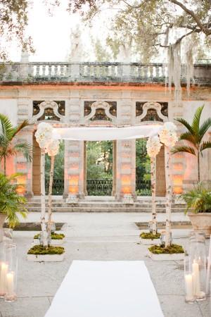 Elegant White Arbor for Outdoor Wedding Ceremony