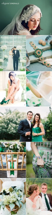 Emerald Green Wedding Inspiration Pantone Color of the Year 2013