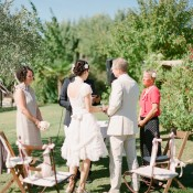 French Vineyard Wedding Ceremony