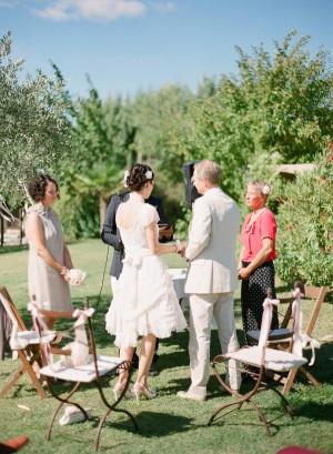 French Vineyard Wedding Ceremony