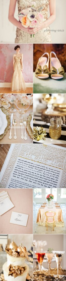 Glitter Gold Wedding Inspiration