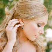 Gold Tear Drop Bridal Earrings1