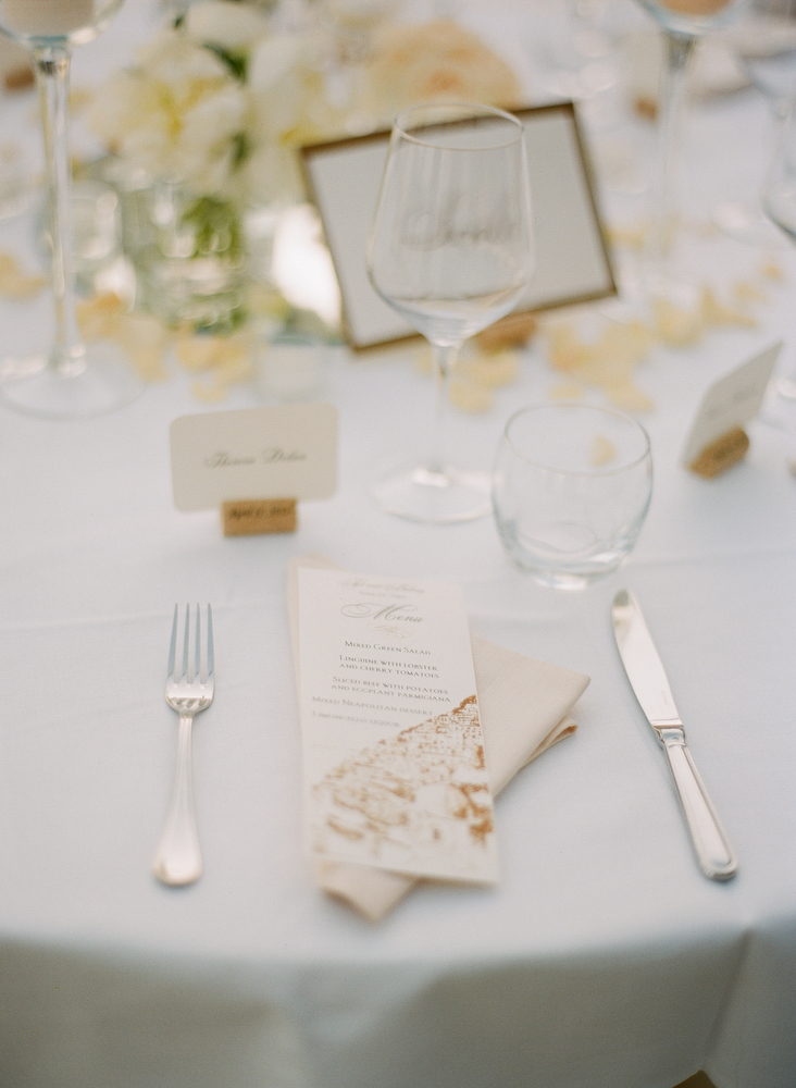 Gold And White Reception Table Setting Elizabeth Anne