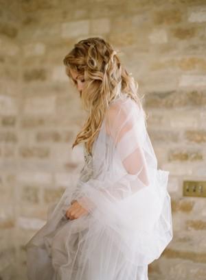 Gray Vera Wang Wedding Gown
