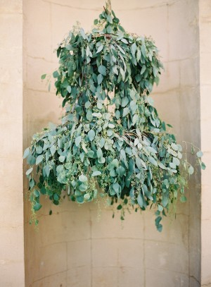 Greenery Covered Outdoor Chandelier