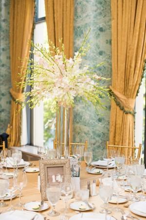 Hydrangea Arrangement in Tall Silver Vase