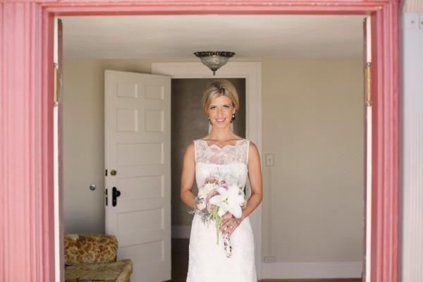 Lace Neckline Wedding Gown