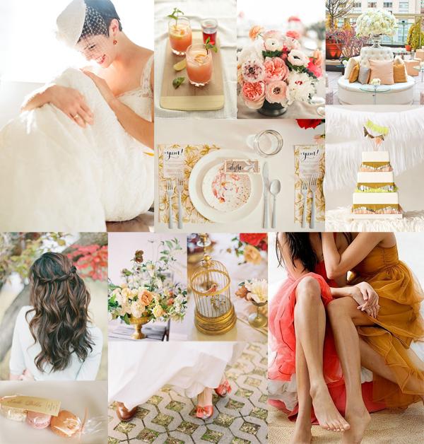 Melon Amber Wedding Inspiration Board