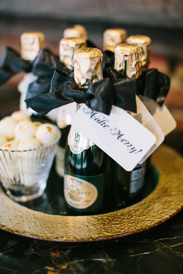 Miniature Champagne Bottle Favors