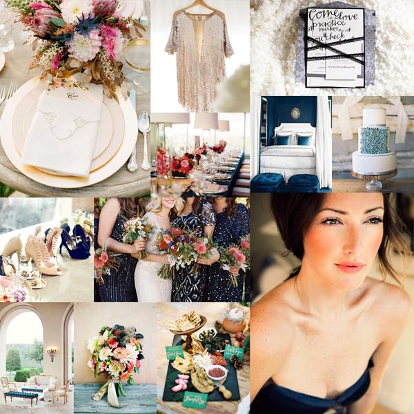 Modern Colorful Bohemian Wedding Inspiration