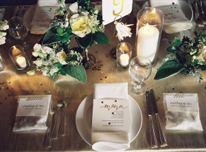 Modern Elegant Wedding Place Setting