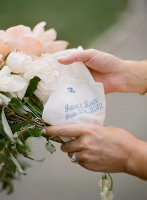 Monogrammed Bridal Handkerchief