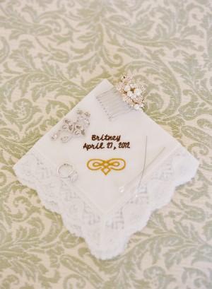 Monogrammed Bridal Handkerchief1