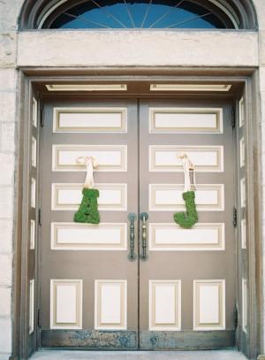 Moss Initials on Church Doors
