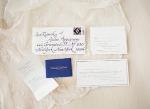Navy and White Wedding Stationery