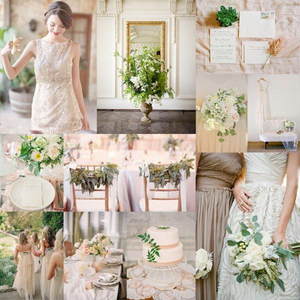 Olive Blush Wedding Colors