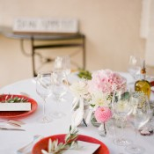 Sweet Pink and Red Wedding Table