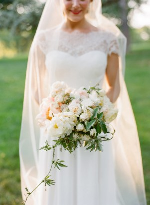 Pale Bridal Bouquet With Greenery 1