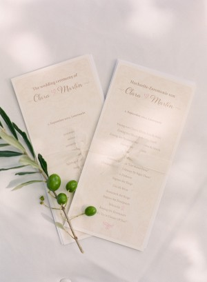 Pale Pink and White Ceremony Programs
