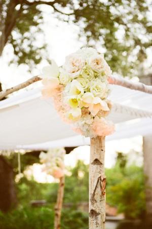 Pastel Flower Decoration on Chuppah